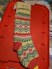 Pottery Barn Kids Holiday Stocking Merry and Bright Mono Opal