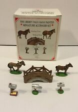 Liberty Falls 1998 Pewter Miniatures Set Of 6 Accessories Ah51 Horses Mailboxes