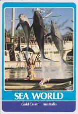 Sea World Gold Coast Australia Unused Postcard Dolphins Cook's Cove Lagoon