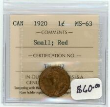 1920 Canada Small One Cent - ICCS MS-63 Red
