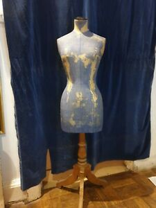 """Antique Stockman Mannequin No 40 .with Fruitwood Stand 33 """" Bust .original..."""