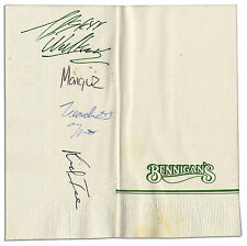 Two 2 Live Crew Signed In Person Napkin from the 1990's