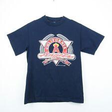 Angels Baseball Mens Large Shirt Vintage California MLB Blue Short Sleeve
