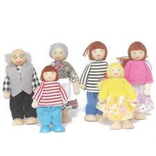 ELC TYPE DOLLS HOUSE FAMILY 6 PEOPLE GRANDMA GRANDPA MUM DAD GIRL BOY UK SELLER!