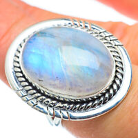 Large Rainbow Moonstone 925 Sterling Silver Ring Size 7.5 Ana Co Jewelry R43755F