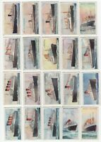 1924 Wills's Merchant Ships of the World Tobacco Cards Complete Set of 50