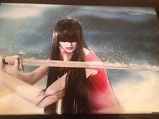 SAMURAI NINJA WALL ART CANVAS Ready To Hang Wooden Framed 18x12 Inches