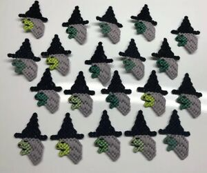 Lot Of 20 Plastic Canvas HALLOWEEN WITCH Pins & Magnets NEW