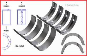 Engine Crankshaft Main Bearing Set ENGINETECH, INC. BC106JSTD