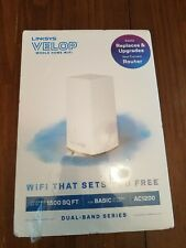 Linksys Velop AC1200 Dual Band Router Whole Home WiFi, White VLP0101