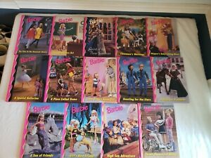Vintage Barbie Book Club Grolier Hardcover Lot of 14 Amazing Condition