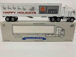 HAPPY HOLIDAYS 1994 AGCO Allis tractor trailer Kenworth diecast metal truck bank