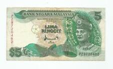 """MALAYSIA  RM5  Without Cross Silver Security Thread  TDLR  PZ_9720482 """"AVF"""""""