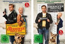6 DVDs * DIE EBERHOFER TRIPLE BOX 1+2 - (6 FILME INCL. LEBERKÄSJUNKIE #NEU OVP %