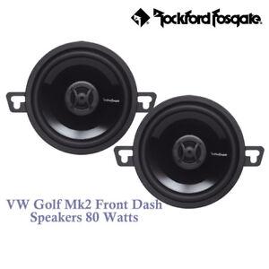"VW Golf Mk2 II 1983-1995 - 8cm 3.5"" 3-1/2 Inch Front Dash Speakers Upgrade Kit"