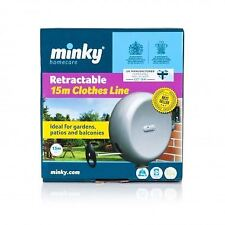 Minky 15m Retractable Reel Cloth Washing Line Laundry Garden Wall Outdoor Single