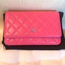 Chanel Tasche CF Woc Crossbody Clutch Lammleder in rosa/fuchsia/pink Original