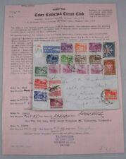Mayfairstamps Indonesia 1950s Registered Airmail Cover & Letter to USA wwh27445