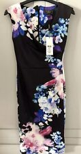 **Lipsy Black And Floral Dress - Size 8 - BNWT - Wedding, Christening**