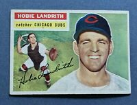 1956 Topps #314 Hobie Landrith Chicago Cubs VGEX-EX