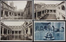Somerset BATH - THE ROMAN BATHS 4 x Collection - Old Postcard by Photochrom