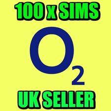 100 X O2 Pay As You Go 4G Sim Cards UK New Bulk Network Wholesale Joblot