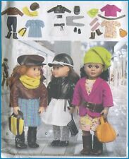 "18"" Doll Trendy Warm Clothes Hats Jackets Bags Boots Sewing Pattern McCalls 6804"
