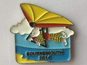 RUPERT BEAR Collectable Badge * RUPERT Bournemouth 2014 * vgc