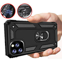 COVER per Iphone 11 / Pro Max Custodia Tough ARMOR Holder Ring VETRO TEMPERATO