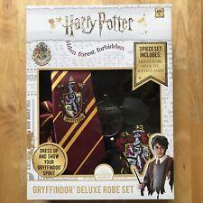 Harry Potter 3PC. Gryffindor Deluxe Robe Set Costume Glasses Tie Kids Dress Up