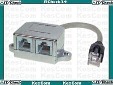 CAT5 Y-Adapter Leitunsdoppler Ethernet / Ethernet #11900