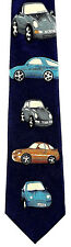 Cars Mens Neck Tie Automobile Blue Neck Tie Novelty Transportation Auto Gift New