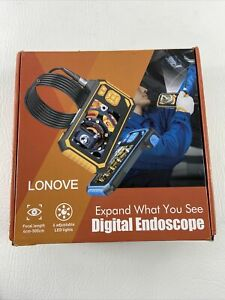 Lonove Digital Endoscope with LCD Screen, Waterproof Ring, 113, Camera (E1)