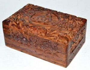 Triquetra Wooden Carved Storage Decorative Decor Tarot Box Altar Wicca Wiccan