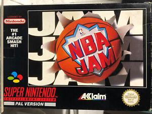 NBA Jam Super Nintendo Game Including Manual And Original Box
