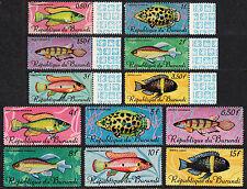 BURUNDI — SCOTT 186-201 — 1967 FISH SET OF 16— MNH — SCV $42.20