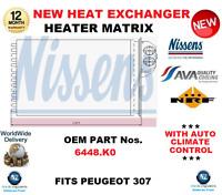 Per 6448K0 Scambiatore Calore Riscaldamento Matrix Peugeot 307 + Auto Climate