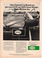 1973 ORIGINAL VINTAGE NATIONAL CAR  RENTAL MAGAZINE AD