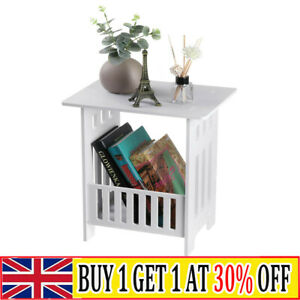 White Bedside Table Side End Table Cabinet Nightstand Storage Bedroom Home