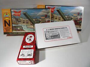 4 N scale Kits Grain elevator, Manufacturing co.-Operating Rolling Bridge