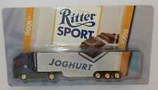 GRELL HO 1/87 CAMION SEMI TRUCK TRAILER IVECO STRALIS RITTER CHOCOLAT YOGHURT