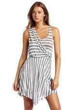 Ella Moss Women's Margherita Striped Tank Dress, Black/Silver, X-Small ~ NWT