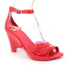 Melissa Mel Vivienne Westwood Ladies Shoes Heart Sandal Size 6 39 Red Wedge Heel