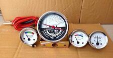 Oliver Tractor Super 55 66 67 Gauge Kit (Tachometer + Temp + Ampere+ Oil)-White