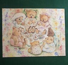 Springbok Jigsaw Puzzle Tea Party Picnic Teddy Bears COMPLETE 500 Piece 1997