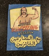 Monty Gum Wrestling Super Stars Trading Cards 1 Pack From Box - 1986