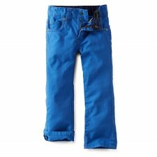 Carters Boy'S Twill Pants With Adjustable Waist,Blue,5T