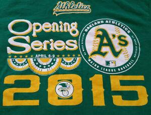 Oakland A's Athletics T Shirt M Medium Opening Series 2015 EUC Baseball INV314