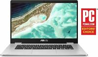 "ASUS Chromebook Laptop 15.6"" 4GB RAM, 32GB eMMC Storage, Chrome OS- C523NA-DH02"