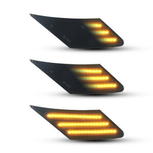 Fits 2013-up Toyota 86 FR-S Subaru BRZ Dual Color LED Smoked Side Marker Lights